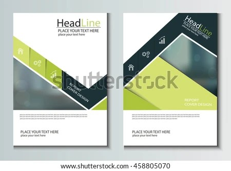 Leaflet Brochure Flyer Template A 4 Size Stock Vector (Royalty Free