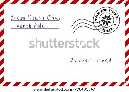 Letter Santa Claus Letter North Pole Stock Vector (Royalty Free