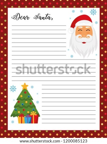 photograph relating to Free Printable Letters From Santa Claus called Printable Letter In opposition to Santa