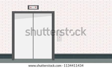 Lift Door Vector Free Space Text Stock Vector (Royalty Free