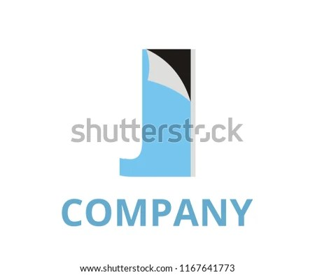 Light Blue Color Abstract Sticker Fold Stock Vector (Royalty Free