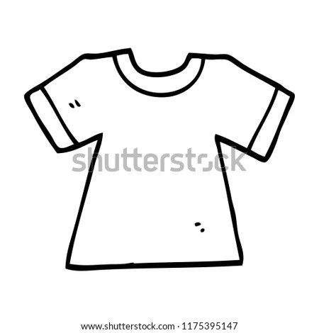 Line Drawing Cartoon Tee Shirt Stock Vector (Royalty Free