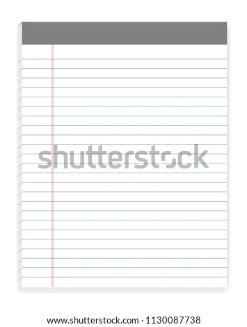 Lined Letter Format Writing Pads Margin Stock Vector (Royalty Free