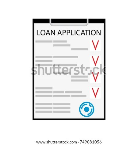 Loan Application Flat Isolated On White Stock Vector (Royalty Free