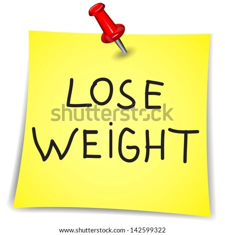 Lose Weight Word On Note Paper Stock Vector (Royalty Free) 142599322