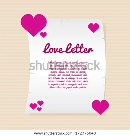 Love Letter Template Stock Vector (Royalty Free) 172775048