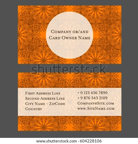 Luxury EPS 10 Vector Business Card Template Stock Vector (Royalty
