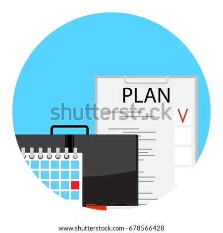 Making Monthly Business Plan Deadline Icon Stock Vector (Royalty