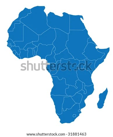 Map Africa African Continent Separable Borders Stock Vector (Royalty