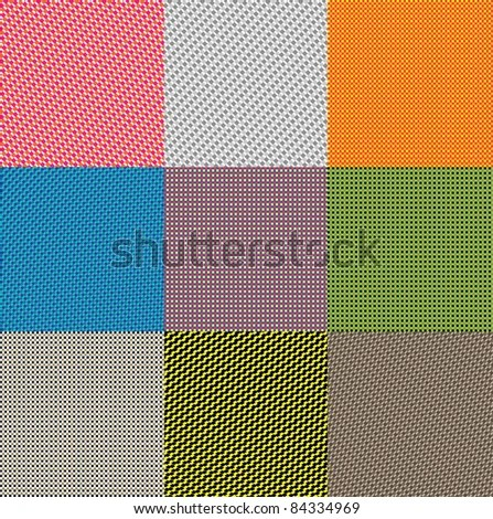 Materials Seamless Pattern 9 Nonsuture Patterns Stock Vector