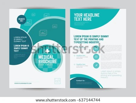Medical Brochure Design Template A 4 Size Stock Vector (Royalty Free