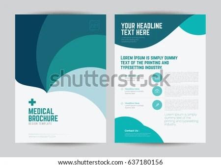 Medical Brochure Flyer Template Design A 4 Stock Vector (Royalty