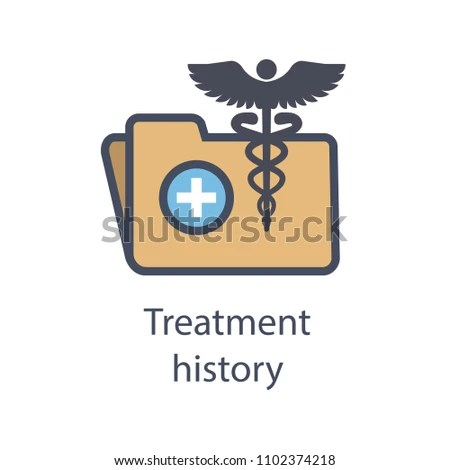 Medical Records Icon Caduceus Personal Health Stock Vector (Royalty