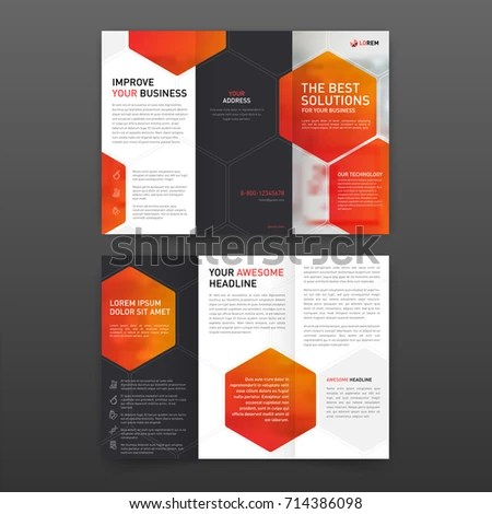 Medical Tri Fold Brochure Template Layout Stock Vector (Royalty Free