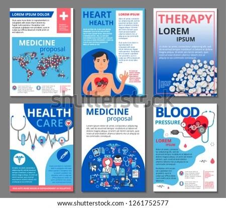 Medicine Vector Illustrations Marketing Material Ads Stock Vector