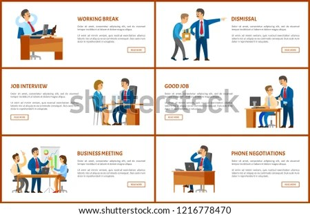 Meeting Break Dismissal Working Order Phone Stock Vector (Royalty