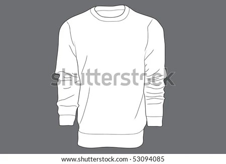 Mens Sweater Template Stock Vector (Royalty Free) 53094085