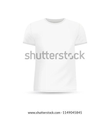 Mens White Tshirt Design Template Mock Stock Vector (Royalty Free