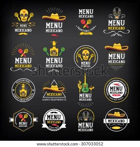 Menu Mexican Logo Badge Design Stock Vector (Royalty Free) 307033052