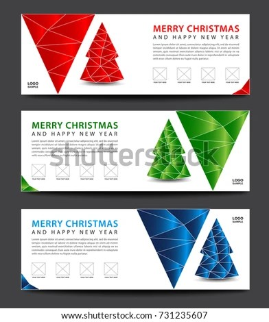 MERRY CHRISTMAS Banner Template Advertisement Flyer Stock Vector