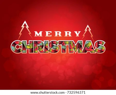 Merry Christmas Holiday Greeting Message Written Stock Vector