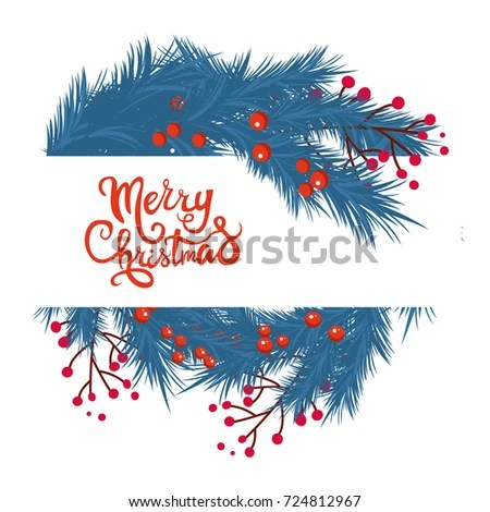 Merry Christmas Party Invitation Happy New Stock Vector (Royalty