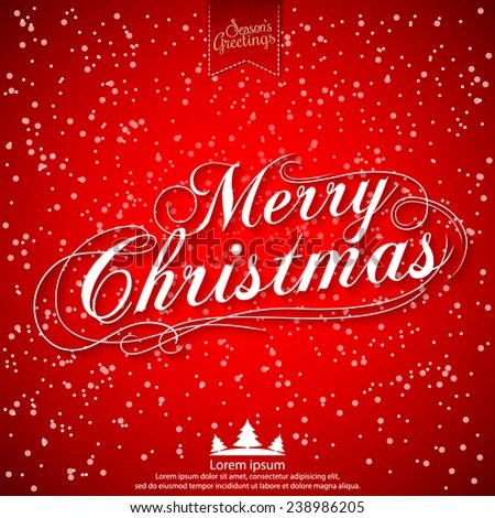 Merry Christmas Vector Illustration Holiday Design Stock Vector