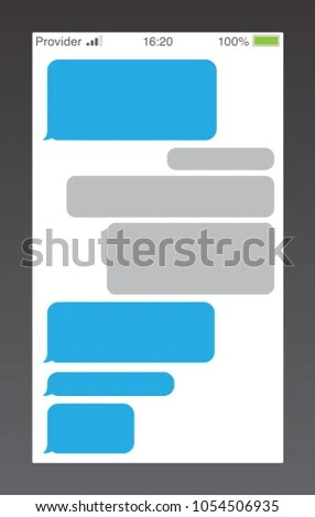 Messenger Short Message Service Bubbles Text Stock Vector (Royalty
