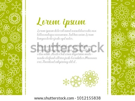 Minimalist Floral Love Letter Template Simple Stock Vector (Royalty