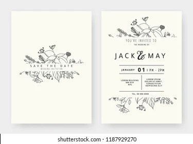 Simple Flower Outline Images Stock Photos Vectors