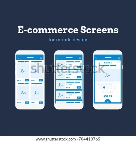 Mobile App Wireframe Ui Kit Detailed Stock Vector (Royalty Free