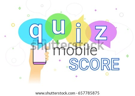 Mobile Quiz Interview Online High Score Stock Vector (Royalty Free