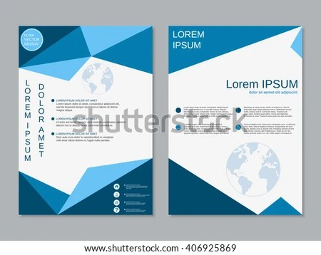 Modern Business Twosided Booklet Template Professional Stock Vector