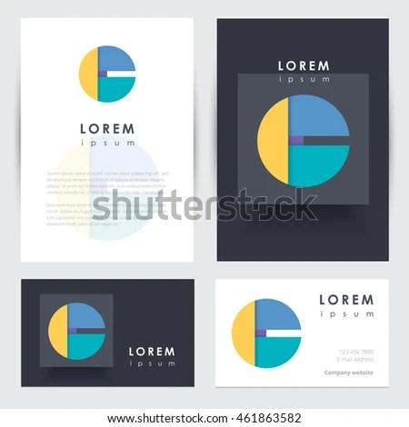 Modern Contemporary Corporate Identity Letterhead Business Stock