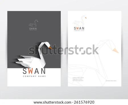 Modern Contemporary Minimalistic Black White Letterhead Stock Vector