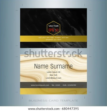 Modern Designer Business Card Layout Templates Stock Vector (Royalty