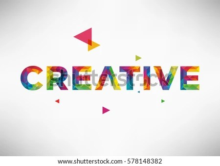 Modern Geometric Vector Design Creative Word Stock Vector (Royalty