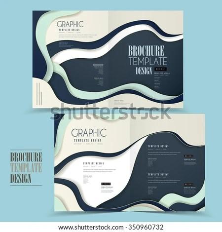 Modern Halffold Brochure Template Design Wave Stock Vector (Royalty