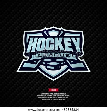 Modern Professional Hockey League Template Logo Stock Vector