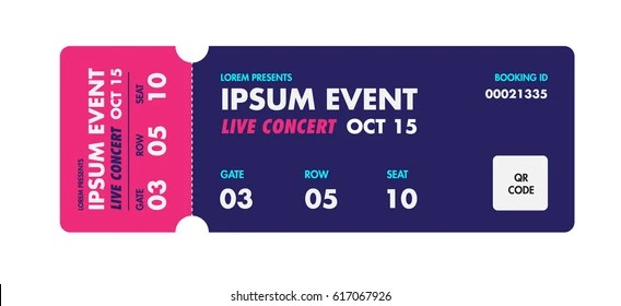 Event Ticket Template Images, Stock Photos  Vectors Shutterstock - event ticket template