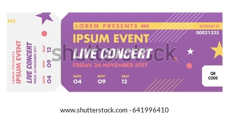 Music Dance Live Concert Entrance Vector Stock Vector (Royalty Free