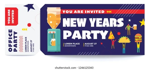 Music Dance Office Party Vector Tickets Stock Vector (Royalty Free