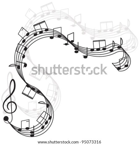 Music Treble Clef Notes Your Design Stock Vector (Royalty Free