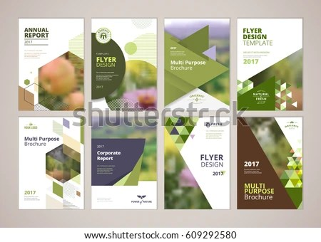 Natural Organic Products Brochure Cover Design Stock Vector (Royalty