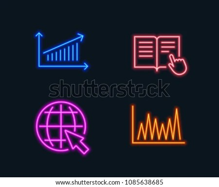 Neon Lights Set Chart Read Instruction Stock Vector (Royalty Free