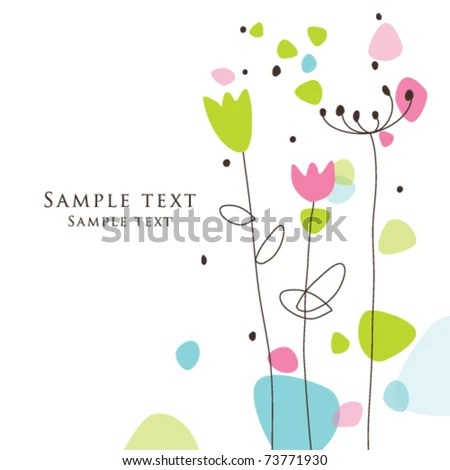 Nice Greeting Card Template Cute Simple Stock Vector (Royalty Free - Birthday Card Sample