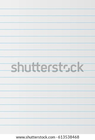 Notebook Paper Background Lined Paper Stock Vector (Royalty Free