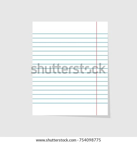 Notebook Paper Realistic Vector Illustration Blank Stock Vector