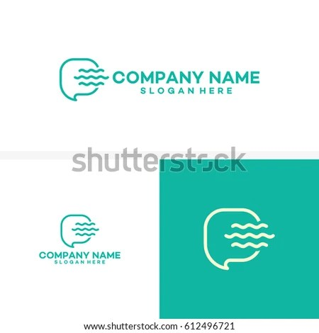 Ocean Consult Logo Template Unique Chat Stock Vector (Royalty Free
