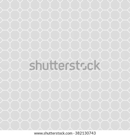 Octagon Grid Design Vector Seamless Pattern Stock Vector (Royalty